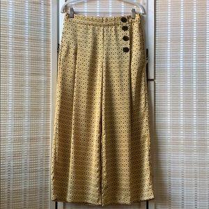 Zara satin wide leg culottes size medium